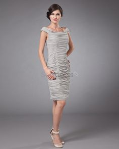 Pleated Exclusive Rectangle Thin Summer Hourglass Chic & Modern Chiffon Mother Of The Bride Dress