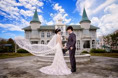 with beautiful flying wedding veil @ Taiwan I-Lan Sigma Garden Castle Welcome to like More Photography on Facebook https://www.facebook.com/photo.php?fbid=262741280540711&set=a.186179861530187.1073741828.179673352180838&type=1&permPage=1