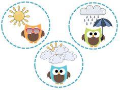 Owls Weather Set by Teachery Tidbits Owl Theme Classroom, Kindergarten Classroom, Classroom Teacher, Classroom Ideas, Weather Bulletin Board, Weather Graph, Owl School, Weather Words, Teachers Week