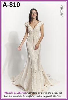 Exclusivo y Original Vestido de Novia Bohemio y Vintage realizado a mano hasta el último detalle