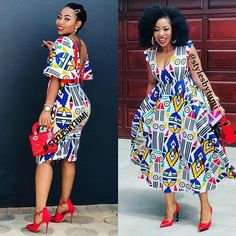 Zulu traditional attire 2019 for black women -traditional attire ShweShwe 1 African Wear Dresses, African Fashion Ankara, Latest African Fashion Dresses, African Inspired Fashion, African Print Fashion, African Attire, African Outfits, African Prints, Zulu Traditional Attire