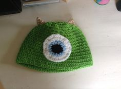 Monsters Inc Mike Wazowski Hat by aliciasarts on Etsy, $13.00