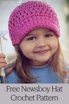Free Crochet Pattern - a cute and easy crochet newsboy hat that's perfect for any age. Its unisex style makes it appropriate for babies, boys, girls, teens, women, and men. By Posh Patterns.