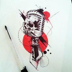 Car Tattoos, Music Tattoos, Skull Tattoos, Black Tattoos, Tatoos, Tattoo Sketches, Tattoo Drawings, Art Drawings, Loki Tattoo