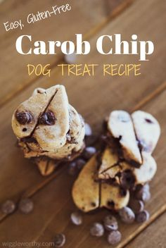 This easy carob chip dog treat recipe makes the yummiest, meltiest, most delicious gluten free carob treats. Try it today! Homemade Dog Treats, Healthy Dog Treats, Yummy Treats, Doggie Treats, Dog Biscuit Recipes, Dog Treat Recipes, Dog Vegetables, Whole Food Recipes, Dog Food Recipes