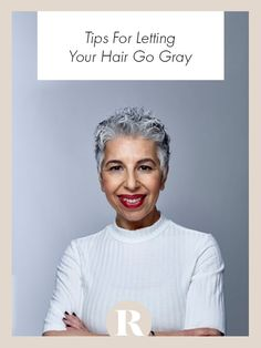 Embracing your natural gray is a marathon, not a sprint. Look and feel your best while making the transition with these tips. Hair Lyrics, Hair Turning White, Dyed Blonde Hair, Hair Dye, Brunette Hair, Ombre Hair, Braid Tool, Prom Hair Down, Curly Hair Styles