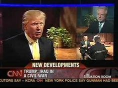 Listen to this old interview. How ironic is it that trump's argument is based on how George W. has caused the world to hate America!
