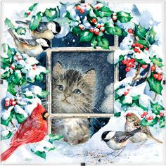 Who wouldn't want to include an adorable Christmas kitty within their Christmas home decor? This easy cross stitch pattern has such a magical look to it. $8.49