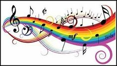 Music Theme - Notes on White Background with Rainbow Wall Decal Praise Songs, Worship Songs, Praise And Worship, Rainbow Wall Decal, Spiritual Songs, Rainbow Decorations, Locker Decorations, Music Backgrounds, Rainbow Theme