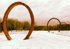 NCMA Park: Gyre rings in the winter