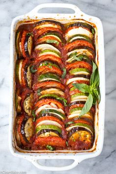 This Ratatouille recipe comes together quickly for a fresh weeknight dinner. Plus, it's suitable for gluten free, paleo and vegan diets!This Ratatouille recipe comes together quickly for a fresh weeknight dinner. Plus, it's suitable for glu Vegetarian Recipes Hearty, Vegetable Recipes, Paleo Recipes, Cooking Recipes, Vegan Vegetarian, Healthy Cheap Recipes, Healthy Cooking, Lunch Recipes, Vegaterian Recipes