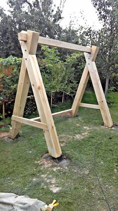 60 the swing decorations in the backyard really inspire you page 3 - Ask Merve Backyard Swings, Pergola Swing, Porch Swing, Wooden Garden Swing, Wood Swing, Diy Wood Projects, Outdoor Projects, Woodworking Projects, Diy Swing