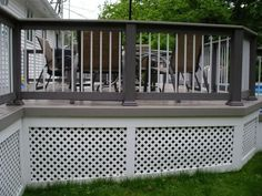 Living Room Deck Lattice Skirting Ideas Skirting Panels As Shown In The Picture Deck Lattice for Home Exterior