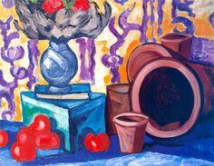 Ольга Розанова «Натюрморт с помидорами» 1910-е. Холст, масло. 67 х 87 см  Витебский Музей современного искусства, Белоруссия