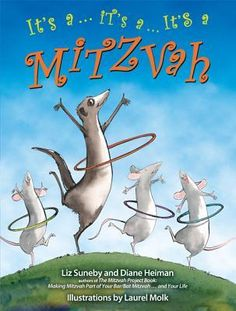 """This lively picture book for children ages 3-6 is filled with amiable animals who, through their actions, demonstrate age-appropriate mitzvot, including welcoming new friends, forgiving mistakes, respecting elders and sharing food with the hungry. It engages children through playful illustrations; likeable animal characters, including Mitzvah Meerkat, the narrator; humor and the repetition of the fun-to-say phrase """"It's a ... it's a ... it's a mitzvah """" that encourages children to chime in."""