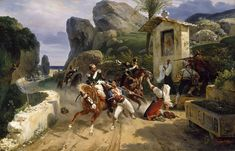 Horace Vernet - Italian Brigands Surprised by Papal Troops - Walters 3754 - Horace Vernet - Wikipedia