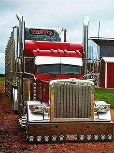 Great looking Peterbilt! Peterbilt 389, Peterbilt Trucks, Ford Trucks, Show Trucks, Big Rig Trucks, Custom Big Rigs, Custom Trucks, Heavy Duty Trucks, Trucks And Girls