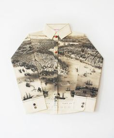 A shirt made of an old map. The Jealous Curator » Blog Archive » i'm jealous of elisabeth lecourt