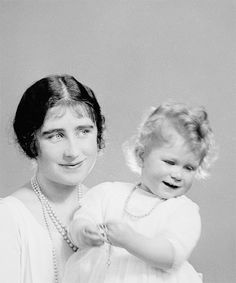 The Duchess of York and Princess Elizabeth photographed in 1927 © The Royal Collection. first posted by margaretroses