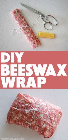 Easy DIY Beeswax Wrap Video Tutorial Measure Whisk Real food cooking with a dash of minimalist living Bees Wax Wraps, Bees Wrap, Bees Wax Wrap Diy, Zero Waste, Diy Beeswax Wrap, Fee Du Logis, Real Food Recipes, Cooking Recipes, Recycling