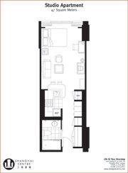 Studio Apartment Floor Plans 400 Sq Ft studio floorplan. bed is a pull down murphy bed opening up the
