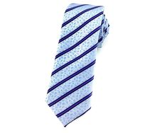 This sky blue floral skinny tie features an alternating floral and stripe design. This features a purple striped and blue floral texture that will surely elevate your style without decreasing your manliness. Ties Online, Floral Texture, Skinny Ties, Neckties, Wedding Men, Stripes Design, Blue Backgrounds, Purple And Black, Black Stripes