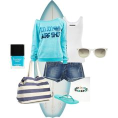 A Day on The Beach, created by emma-phelps-1 on Polyvore