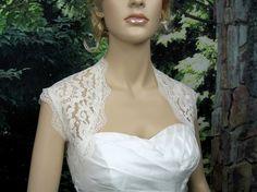 Ivory sleeveless lace bridal shrug bolero jacket  $39.99 <3PenyaDS