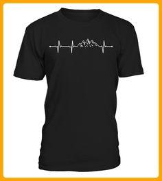 mountains heartbeat tshirts - Shirts für reisende (*Partner-Link)
