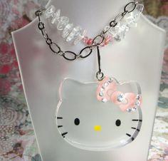Hello Kitty Rear View Mirror Sun Catcher  free by joolrylane, $37.00