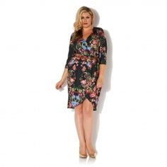 Floral Printed Wrap Dress