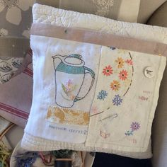 I'm supposed to be potting geraniums not stitching! I am an expert 'flitter' - it's quite frustrating really! Creative Diary, Potted Geraniums, Textile Artists, Embroidery Designs, Stitching, Beautiful, Instagram, Costura, Stitch