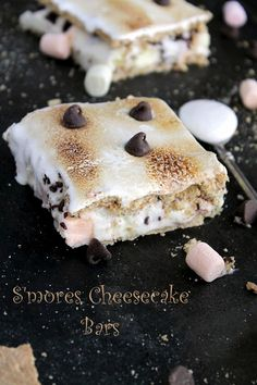 S'mores cheesecake bars!