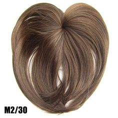 Silky Clip-On Hair Topper Wig Heat Resistant Fiber Extension - Daily False Hair. 1 x Silky Clip-On Hair Topper. It is ahairpiece, not a full wig, anyone won't know you are wearing anything.Perfect solution to conceal thin hair, gray hair, hair loss. Fake Fringe, Hairpieces For Women, Blunt Bangs, Hair Toppers, Magic Hair, Synthetic Hair Extensions, Natural Hair Styles, Long Hair Styles, Damaged Hair