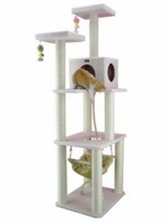 73 inch cat tower with hammock   jumpopia   pinterest  cat  hammock   catsincare how to build your own cat condo  cat  hammock   catsincare        rh   pinterest co uk