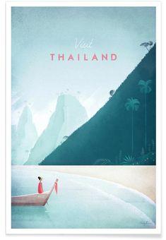 Thailand en Affiche premium par Henry Rivers | JUNIQE