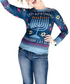 Look at this #zulilyfind! Blue 'Chai Maintenance' Sweater Tee - Women #zulilyfinds