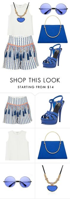 """""""blue"""" by kfirinidoy ❤ liked on Polyvore featuring Alphamoment, Yves Saint Laurent, Monki and Ted Baker"""