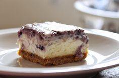 Amy's Kitchen Creations: Blueberry Swirl Cheesecake Bars