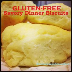 Momma Guess Knows Best - Gluten-Free Savory Dinner Biscuits Recipe. These biscuits are so easy to make and taste great!