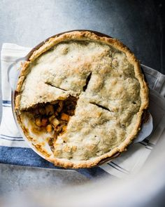 Savory Vegan Pot Pie with Sage Crust | A Couple Cooks