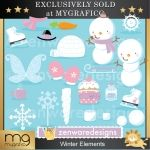 Winter Elements Clipart