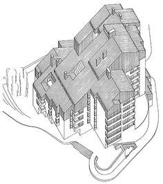 Luis Peña Ganchegui. 28 viviendas Elu Mutriku. 1969