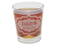 Dads Sippy Cup  Engraved Rocks Glass  13 Oz  Permanently Etched  Fun  Unique Gift * Check out this great product.
