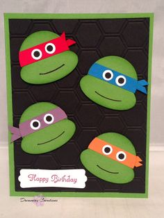 Teenage Mutant Ninja Turtles Birthday Card with high quality Stampin' Up products.