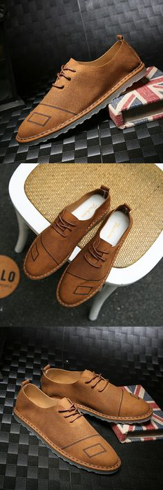 New Arrival Summer Men Casual Shoes Formal Shoes Man Flats Shoes Fashion Anti Slip Lace-Up Oxfords Moccasin Plus Size Shoes