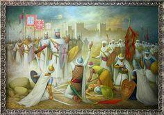 Procurou também conquistar terreno a sul, povoado então por mouros: Leiria em 1135 (1145, conquista final); Santarém em 1146 (1147, conquista final); Lisboa (onde utilizou o cerco como táctica de conquista, graças à ajuda dos cruzados), Almada e Palmela em 1147, Alcácer em 1160 e depois quase todo o Alentejo, que posteriormente seria recuperado pelos mouros, pouco antes de D. Afonso falecer (em 1185). - historiativanet.wordpress.com/formacao-do-estado-portugues