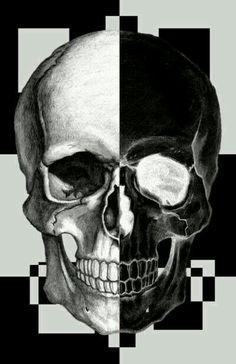 Skull blanco y negro