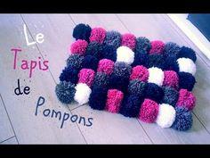 DIY Comment faire un tapis avec des pompons - YouTube