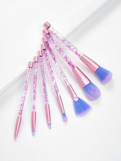 To find out about the Quicksand Handle Makeup Brush Set at SHEIN, part of our latest Makeup Brushes ready to shop online today! How To Wash Makeup Brushes, Best Makeup Brushes, It Cosmetics Brushes, Best Makeup Products, Beauty Products, Mac Cosmetics, Makeup Brush Cleaner, Makeup Brush Holders, Makeup Guide